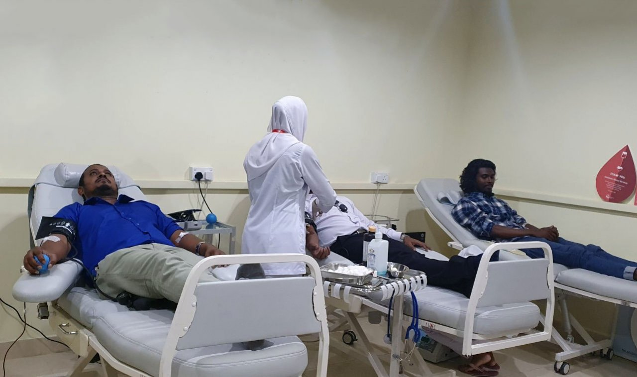 DAMAS Staffs donates Blood to Maldives Blood Service